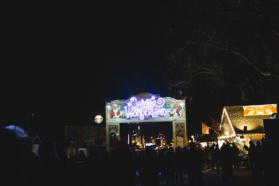 winter wonderland christmas markets at hyde park.