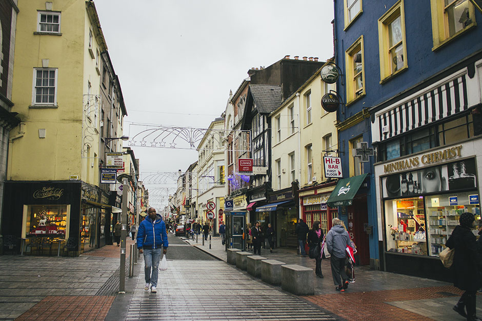 one of the main streets in cork.