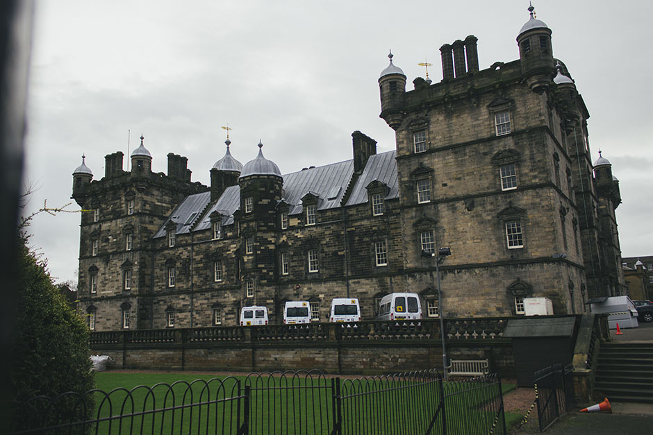 "this is George Heriot's school, or known more commonly now as ""Hogwarts"" - it's the place people reckon J.K. Rowling based Hogwarts off as from the cafe she had a view of this school as well as Edinburgh castle."