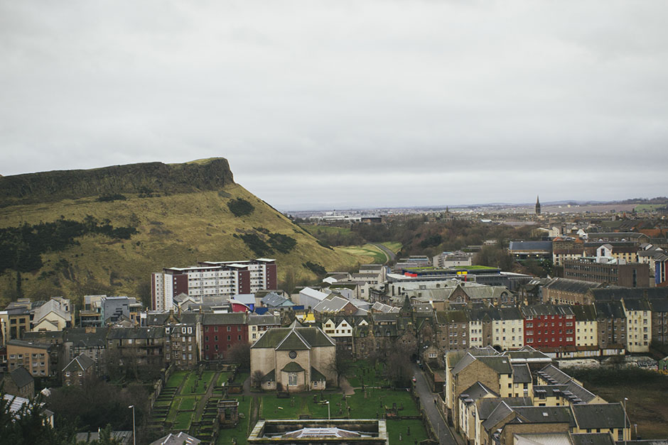 Arthur's seat as seen from Calton hill.