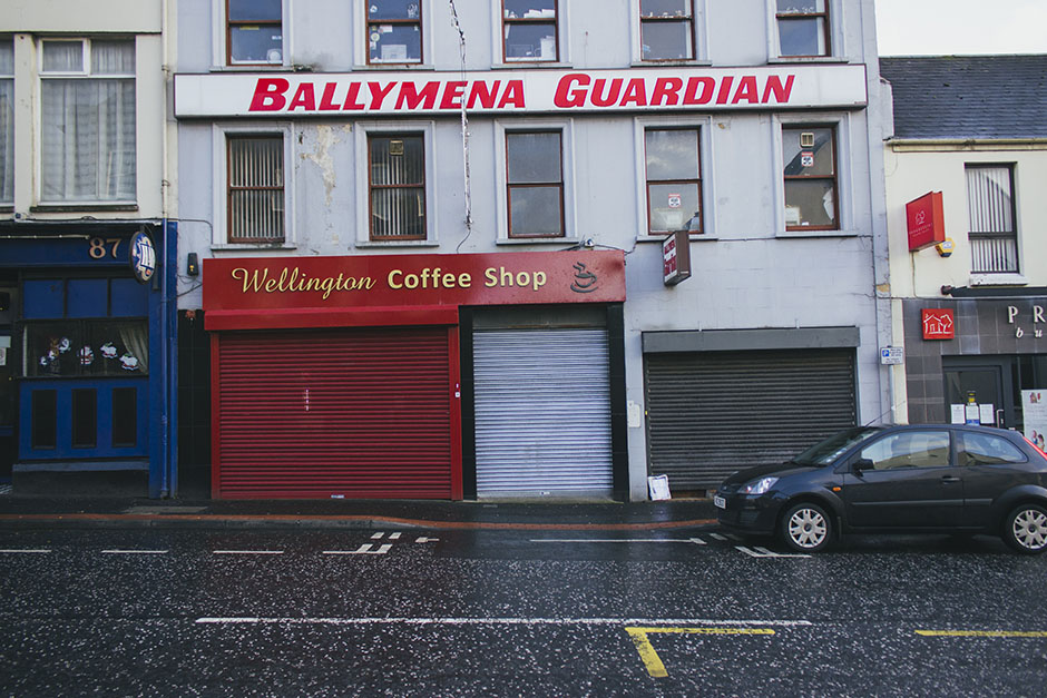 ballymena - where the road looked like it was covered in chewing gum...