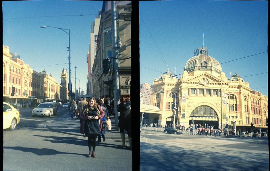 Bec + Flinders Street Station.