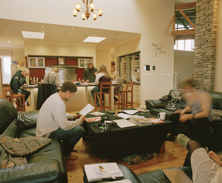 another mamiya image - living space at the mcbride's family home.